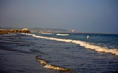 Oarai Shoreline In Summer (aeschylus18917) Tags: ocean sea beach japan landscape nikon scenery surf waves district shoreline pacificocean  80400mm 80400mmf4556dvr ibarakiken d700 80400mmf4556vr   nikond700  danielruyle aeschylus18917 danruyle druyle   arai araimachi ibarakiprefecture higashiibaraki  higashiibarakigun oaraicity oaraicoastline  oaraibeach