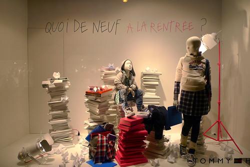 Vitrines rentrée des classes - Galeries Lafayette - Paris, juillet 2010