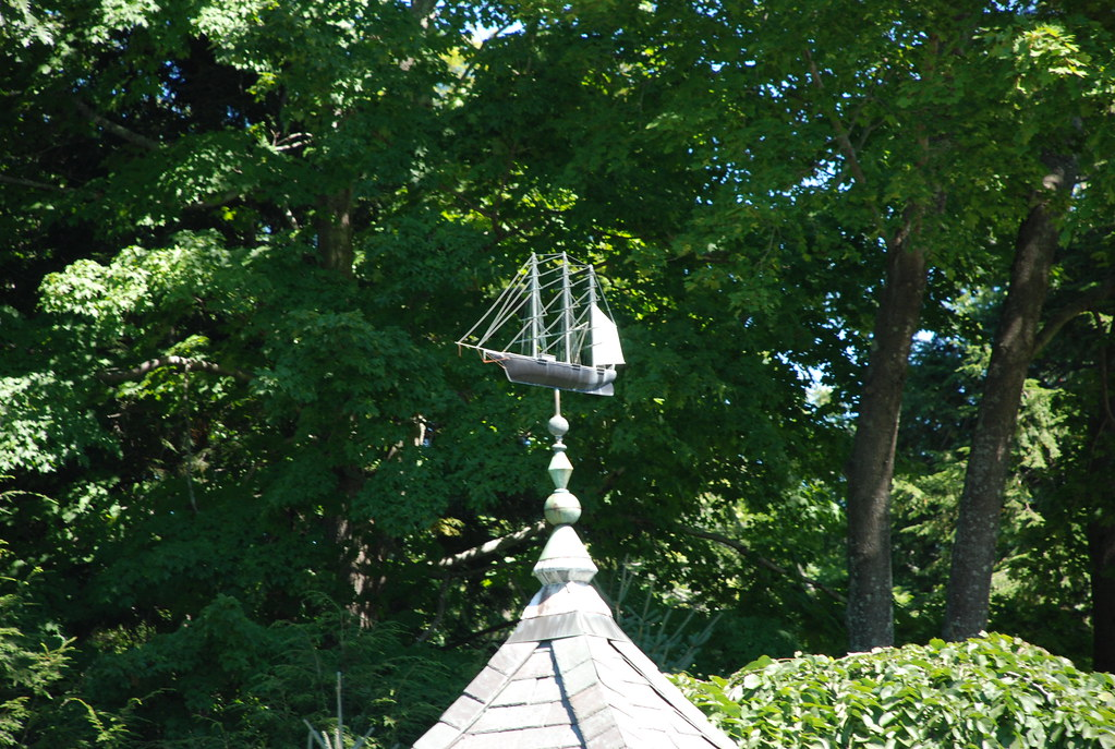 weathervane of a ship in Camden, Maine