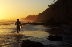 (Maddie Joyce) Tags: ocean california santa sunset sea summer portrait sun reflection bus beach beautiful silhouette d50 50mm evening maddie sand nikon surf surfer barbara gordon joyce bubba spencer th emagic wwwthemagicbuscollectivecom