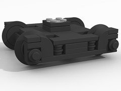 Coach Bogie (SavaTheAggie) Tags: railroad car wheel train truck design coach texas lego state wheels trains passenger cad bogie povray ldraw tsrr