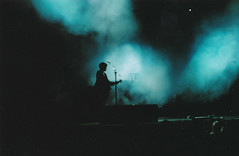 the xx (mykonos.) Tags: blue light music fog concert minolta guitar stage singer analogue wayoutwest thexx