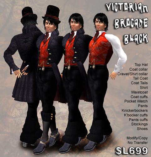 Victorian Brocade Black