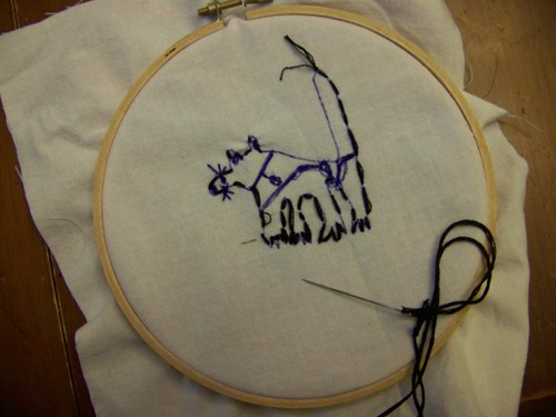 C6's embroidery