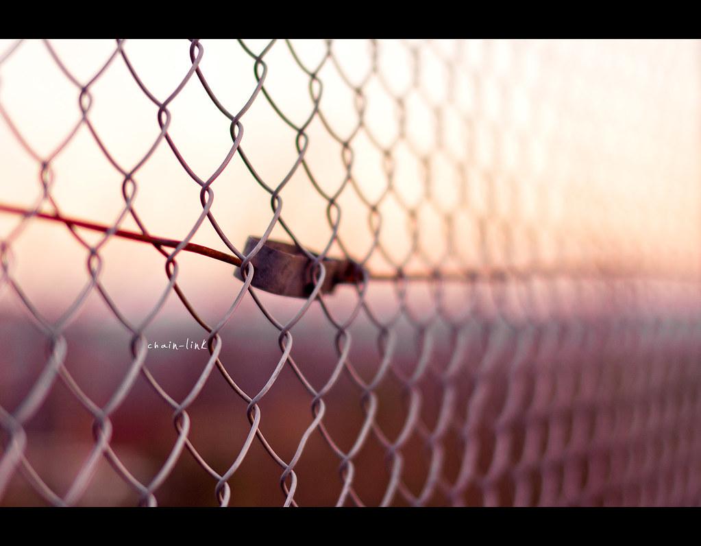 Day 176, 176/365, Project 365, Bokeh, sunlight, sundown, dusk, fence, chain-link fence, chain link, Sigma 50mm F1.4 EX DG HSM, 50mm,
