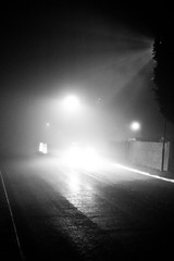 Close Encounter (pandawizard) Tags: blackandwhite bw fog mystery prime lights pentax 14 foggy sigma ist ds2 30mm sigma30mm pentaxistds2 sigma14