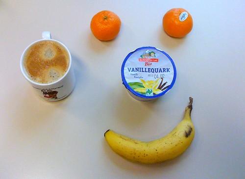 Vanillequark, Banane & Clementinen
