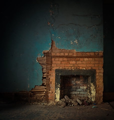 A Glimpse Of What Was (evanleavitt) Tags: county cold rural america ga georgia lost fireplace darkness decay south memories warmth athens plaster faded hearth americana forever cracked exposed clarke vulnerable the lath