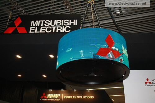 Mitsubishi Curved OLED at ISE-2011