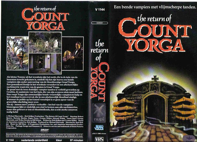 The Return Of Count Yorga (VHS Box Art)