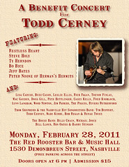 Special Event To Honor Songwriter Todd Cerney