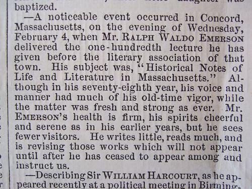 Harper's Bazar 1880 - News