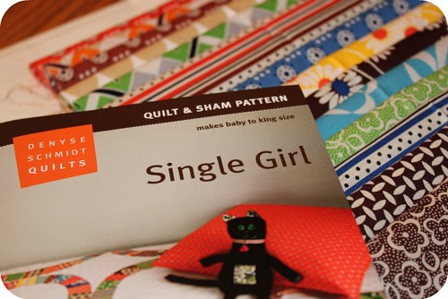 single girl fabric stack