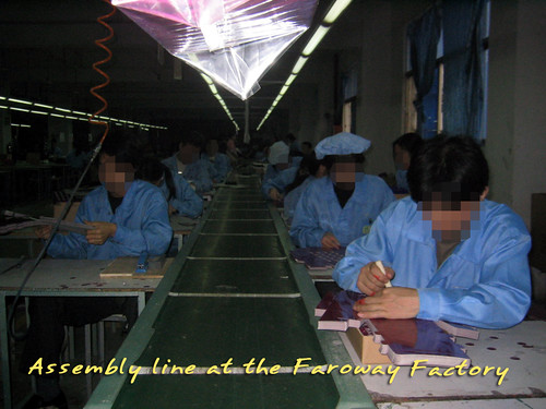 Assembly line at the Faroway Factory