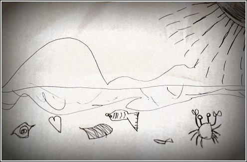 beach doodle