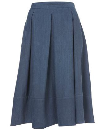 blue calf skirt