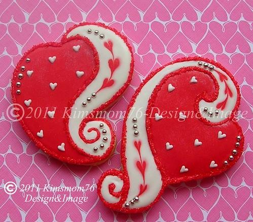 Swirled Edge Valentine Heart Cookies