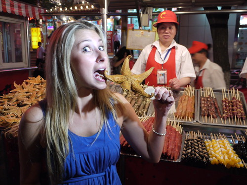 Julia Eats Starfish Donhuamen Night Market