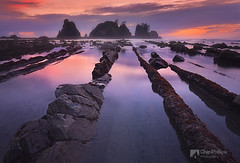 Point of the Arches (Chip Phillips) Tags: ocean park sunset beach rock point coast washington state tide low arches calm national rows olympic shi fins