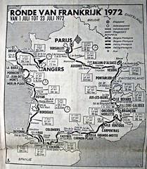 1972 TDF Road map of the 59th Tour (Sallanches 1964) Tags: tourdefrance 1972 roadplan roadmap lagrandeboucle