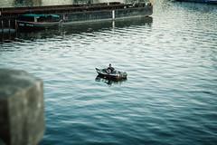 Prag (Margot in Love) Tags: prag tschechien water wasser moldau boot lonely einsam einzeln boat