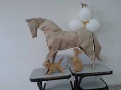 Horse - Hideo Komatsu and Rabbit - Ronald Koh and Dog - Gen Hagiwara (javier vivanco origami) Tags: horse hideo komatsu rabbit ronald koh dog gen hagiwara javier vivanco origami ica peru facultad de medicina veterinaria y zootecnia unica universidad san luis gonzaga