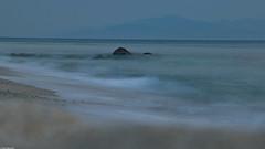 Waves - slow motion (Vagabundina) Tags: sunset goldenhour sea seascape water waterscape waves slow longexposure scenery landscape nature beach italy south calabria europe capovaticano tropea nikon dsrl nikond5300