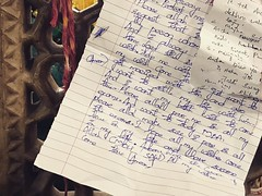 """""""I Want to Settle My Life With Him... And I Want to Study MBA""""--a Handwritten Prayer to Hazrat Nizamuddin Auliya at His Sufi Shrine in Delhi (Mayank Austen Soofi) Tags: iwanttosettlemylifewithhimandiwanttostudymbaa handwritten prayer hazrat nizamuddin auliya his sufi shrine delhi walla"""