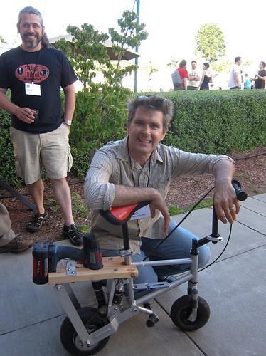 Mark Frauenfelder & Drill Bike