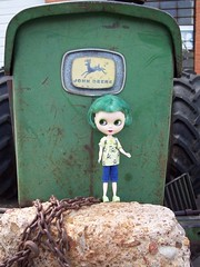 Emerald and tractor