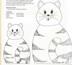 Gato (Luciana de Campos) Tags: gatinhos riscos moldes aplicao patchcolagem