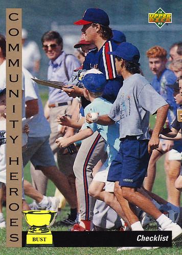 Baseball Card Bust Jim Abbott 1993 Upper Deck Community Heroes