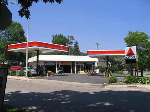 gas station (now Citgo),