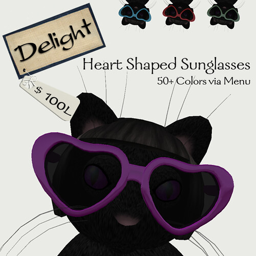 ~Delight~ heart shaped glasses