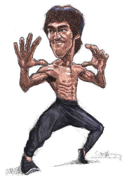 digital caricature of Bruce Lee - 1