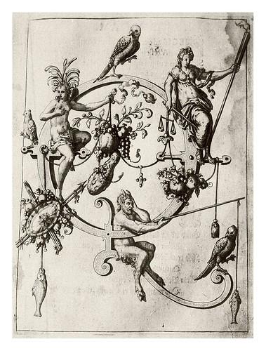 016-Letra Q- Alegoria femenina-Neiw Kunstliches Alphabet 1595- Johann Theodor de Bry