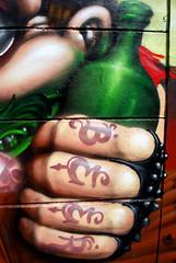 beer (mrzero) Tags: detail beer wall graffiti mural character budapest spraypaint redneck peris mrzero bki fatheat tomsta obieone