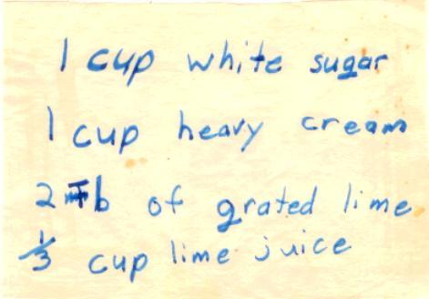 Lime Ice Cream Recipe