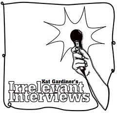 Irrelevant Interviews Logo (white)