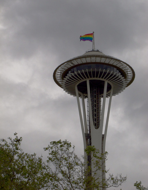 Space Needle with Rainbow Flag, 2010
