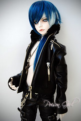 Ashlar - DOT Lahoo (-Poison Girl-) Tags: blue white black leather eyes doll dolls gothic goth super dot sd jacket wig bjd dollfie superdollfie dod poisongirl dreamofdoll balljointeddoll taltos ashlar lahoo dotlahoo dodlahoo dreamofteenager