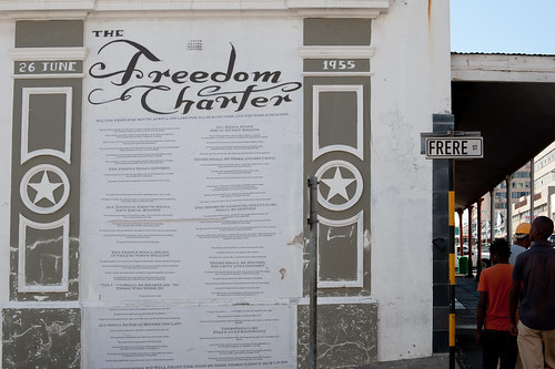 Freedom Charter 1955 on Frere St.