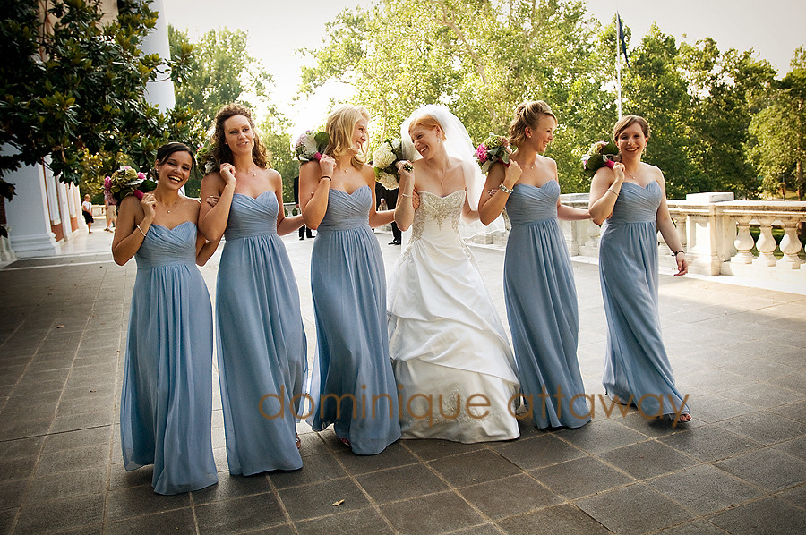 bride and bridesmaids weddings