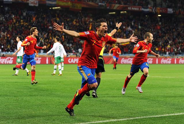Mundial Fútbol España David Villa