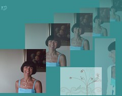 collage in turquoise (maryateresa2001) Tags: portrait mtd collage turquoise ritratto galleria turchese sovrapposizioni photoscape maryateresa collagephotoscape