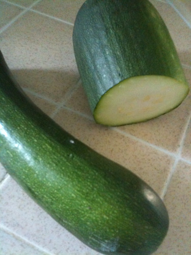 Zucchini, from co-worker's garden