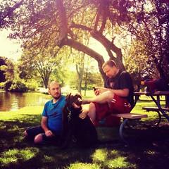 """The Lovely Boys"" (Sion+Anton) Tags: portraits squareformat 500x500 silverlakemichigan iphoneography ©antonkawasaki iphone3gs daviddamon swankolabappfreshbakeddonutsformula thelovelyboys twomenandadog gaymarriedcouple"
