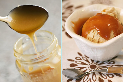 apple pie collage caramel sauce