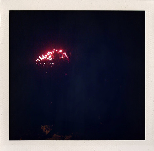Canada Day fireworks as seen distantly from my building