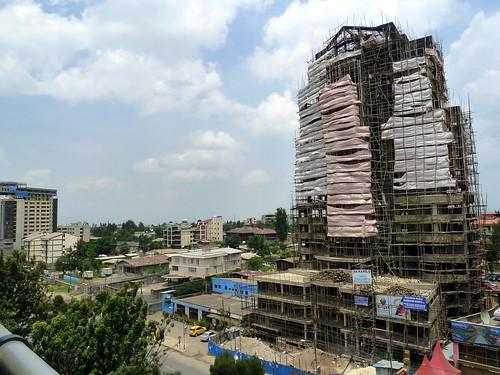 Construcción en Bole 3 (Addis Abeba)